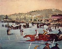 The Races in the Bois de Boulogne, 1872, manet