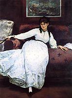 The Rest, portrait of Berthe Morisot, manet