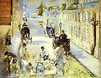 The road-menders, Rue de Berne, 1878, manet