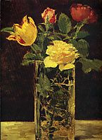 Rose and tulip, 1882, manet