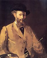 Self Portrait with a Palette, manet