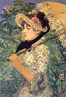 Spring (Study of Jeanne Demarsy), 1882, manet