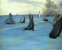 Steamboat leaving Boulogne, 1864, manet