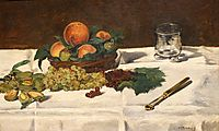 Still Life: Fruits on a Table, 1864, manet