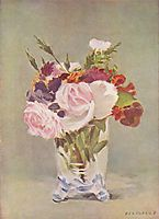 Still life with flowers, 1880, manet