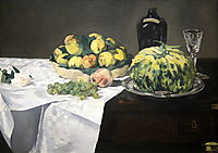Still Life with Melon and Peaches, 1866, manet