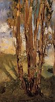 Study of trees, 1859, manet