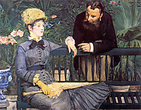 In the conservatory, manet
