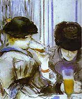 Two women drinking bocks, 1878, manet