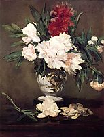 Vase of Peonies on a Small Pedestal, 1864, manet