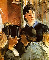 The waitress Bocks, c.1879, manet