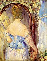 Woman Before a Mirror, manet
