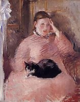 Woman with a Cat, c.1880, manet