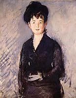 Woman with a gold pin, 1879, manet