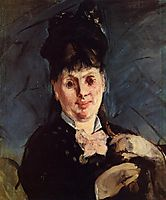 Woman with umbrella, 1875, manet
