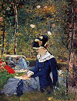Young woman in the garden, 1880, manet