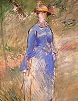 Young woman in the garden, manet