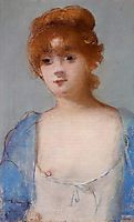Young woman in a negligee, manet