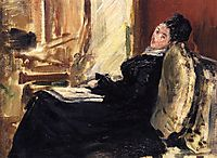 Young woman with a book, 1875, manet
