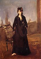 Young woman with a pink shoe (Portrait of Berthe Morisot), 1868, manet