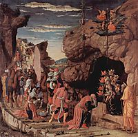 Adoration of the Magi, central panel from the Altarpiece, c.1461, mantegna