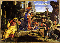 Adoration of the Shepherds, 1456, mantegna