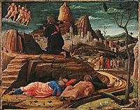 The Agony in the Garden, 1455, mantegna