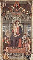 Altarpiece of San Zeno in Verona, central panel Madonna and Angels, mantegna