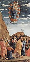 The Ascension, left hand panel from the Altarpiece, c.1461, mantegna