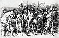 Bacchanal in Silene, mantegna