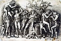Bacchanalia with a Wine, mantegna