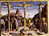 Calvary, central predella panel from the St. Zeno of Verona altarpiece, 1459, mantegna