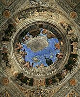 Ceiling of the Camera Picta or Camera degli Sposi, 1470, mantegna