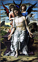 Christ of Pity supported by a cherub and a seraph, 1490, mantegna