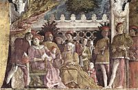 The court of the Gonzaga, 1474, mantegna