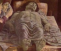 The Dead Christ (Lamentation of Christ), 1478, mantegna
