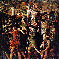 Holders of currencies and gold jewelry, trophies royal armor, 1506, mantegna