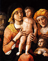 The Holy Family with St. Elizabeth and St. John the Baptist, 1505, mantegna