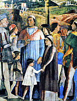 The House of Ludovico Gonzaga Bridegroom decorated wall and his son, mantegna