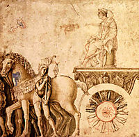 Julius Caesar on his triumphal car, mantegna