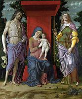 MadonnawithSt.MaryMagdalene andSt.John theBaptist , 1506, mantegna