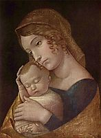 Maria with the sleeping child, 1455, mantegna