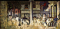The Martyrdom and transporting the body of Saint Christopher, 1506, mantegna