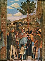 Meeting of Duke Ludovico II Gonzaga with Cardinal Francesco Gonz(fragment), mantegna