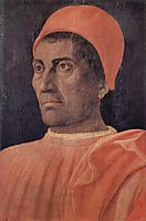 Portrait of Cardinal Carlo de- Medici, mantegna
