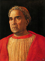 Portrait of Cardinal Lodovico Mezzarota, 1459, mantegna