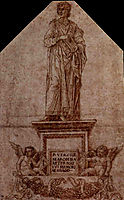 Project for a monument to Virgil, 1500, mantegna