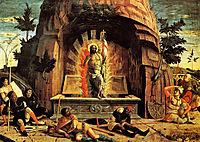 The Resurrection, right hand predella panel from the Altarpiece of St. Zeno of Verona, mantegna
