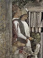 Scene waitingservant with dogs(fragment), mantegna