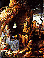St. Jerome in the Wilderness, 1450, mantegna